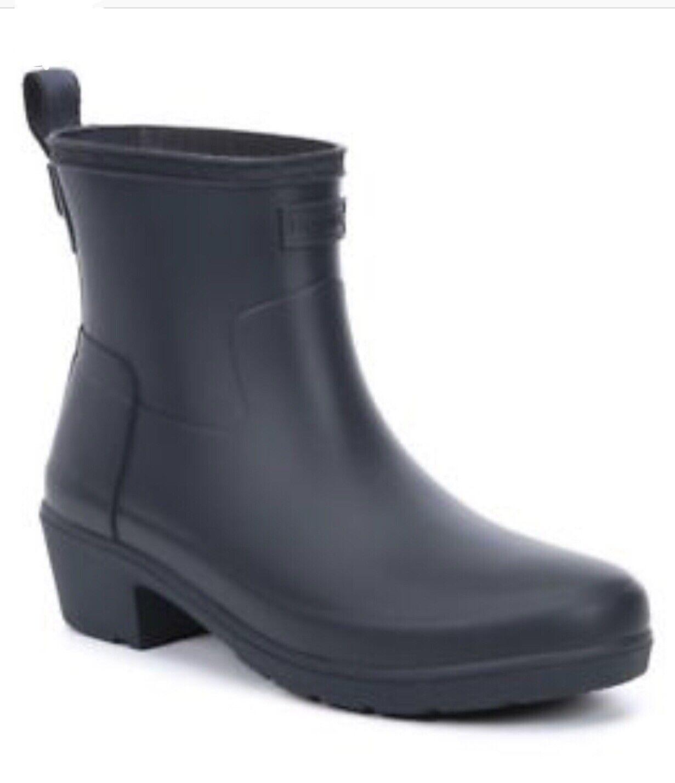 NIB  Hunter Raffinato Ankle Breve Navy Matteo Pioggia di gomma Donne 65533;65533sChelsea 7 38  alta qualità