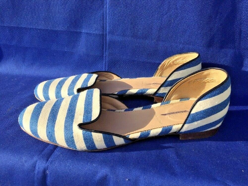 SALE @ J CREW Loafers UNIQUE STRIPED Espadrilles Ballet Flats Damenschuhe Schuhes Sz 6
