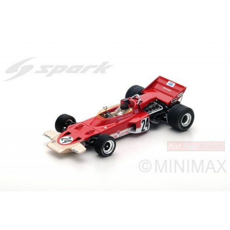 SPARK MODEL S5345 LOTUS 72C E.FITTIPALDI 1970 N.24 WINNER US GP 1 43 DIE CAST