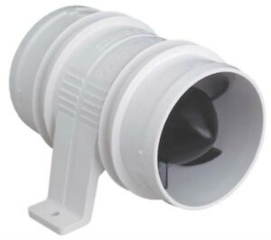 """1733-1 Attwood Turbo 3000 In-Line Blowers White 3/"""" Pair FO-2835-M2"""