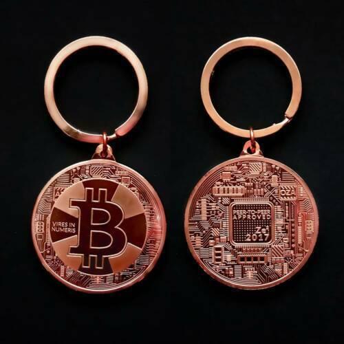 Bitcoins Coins Commemorative Key Coin BTC Chain Gold Bit BTC Keyring Collection