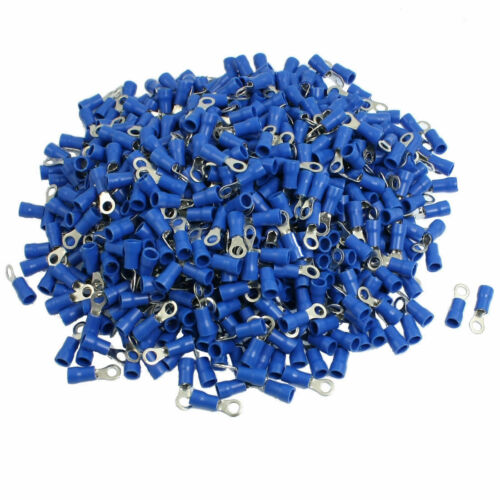 1000PCS RV2-4S 16-14AWG Insulated Wire Connector Electrical Crimp Ring Terminals