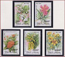VIETNAM N°1343/1347** FLEURS , 1992 Vietnam 2384-2388 Flowers  MNH