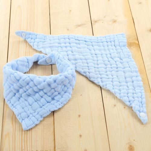 Baby Gauze Muslin Washcloth Triangle Bib Newborn Cotton Bib Towel Supplier