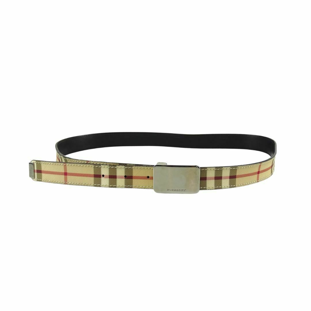 Burberry House Check Thin Belt With Silver Buckle 40 Inch/100 cm *1