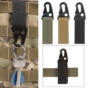 Outdoor Nylon Key Hook Tactical Molle Hanging Belt Carabiner Webbing Buckle Clip