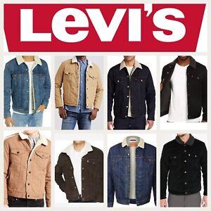 Levis-Sherpa-Jacket-Denim-Trucker-Jackets-Black-Blue