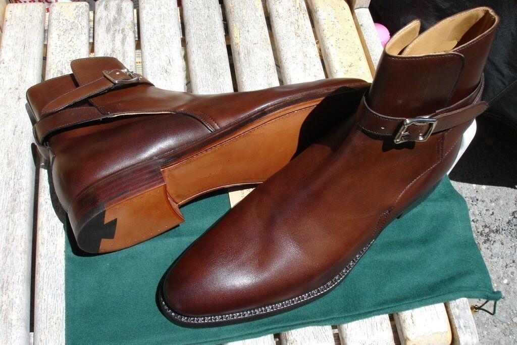 Men's ankle leather boots, Men Jodhpurs brown leather boot Men leather boots
