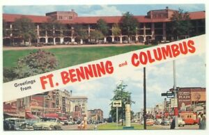 Greetings-From-Ft-Benning-and-Columbus-GA-Postcard-Georgia