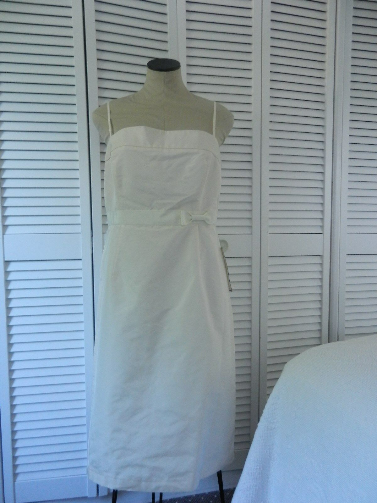 NWT J. Crew Special Occasions & Parties ivory sleeveless silk silk silk dress, Size 14 6760c4