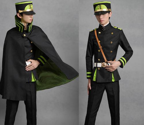 Seraph of the end Yuichiro Hyakuya Military Uniform Suit Cos Cosplay Costume