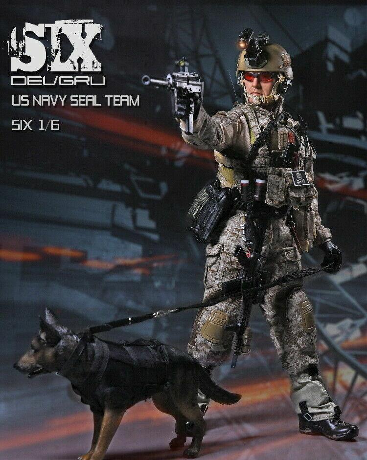 PLAYHOUSE PH Military US  Navy Seal squadra 6 1 6 Soldiers doppio Guns K9 w dogs giocattolo  più economico