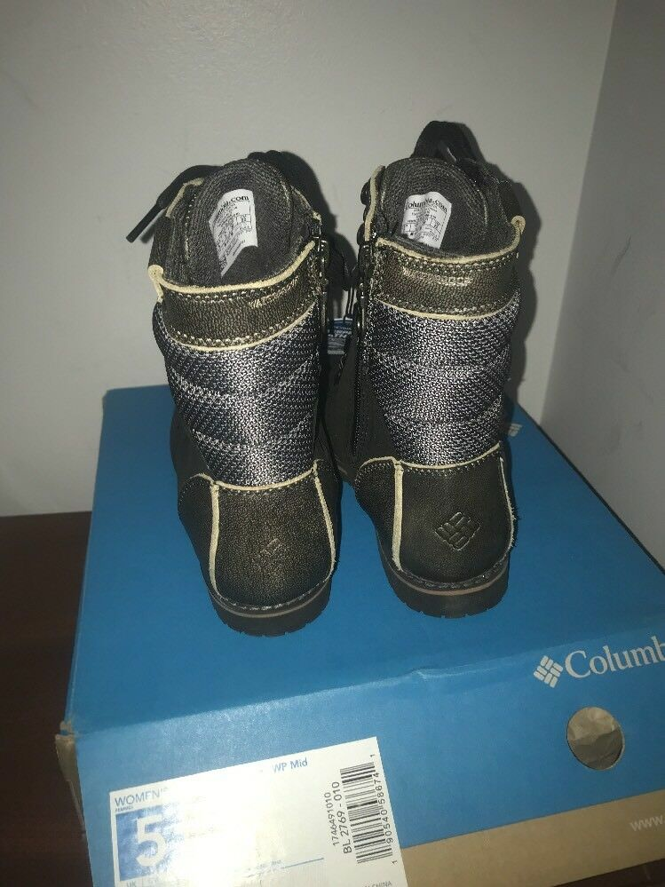 NIB Columbia 23rd 23rd Columbia Ave WP Mid Damens Waterproof Hiking Boot - sz 5 - retail 155 618d04