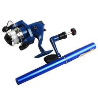 Pen Fishing Rod Saltwater Travel Pocket Portable Fishing Rod With Reel Lines Kit