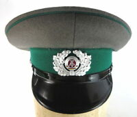 East German Enlisted Men's Military Army Visor Hat Early 1980s Gray/green 2