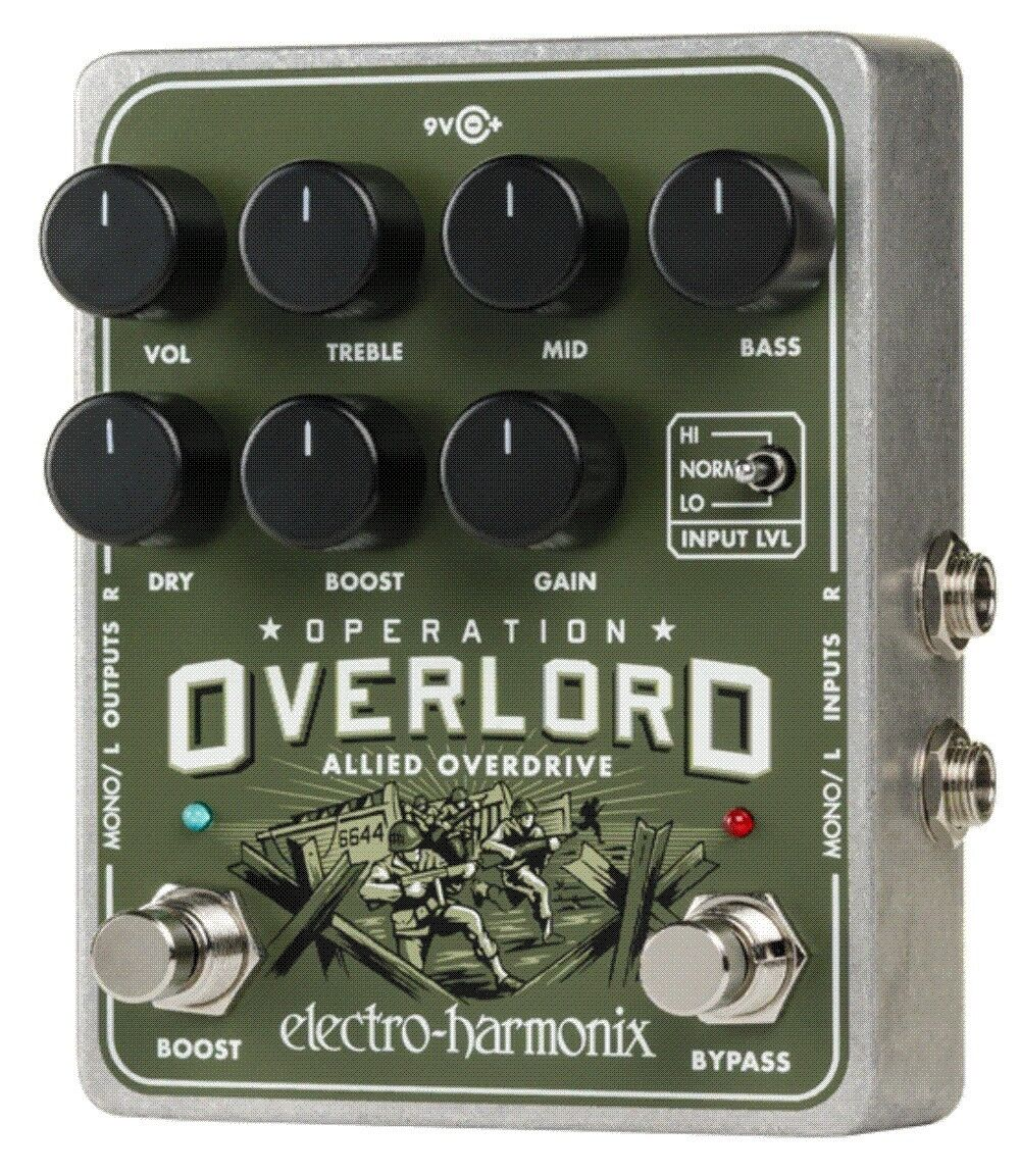 EHX Electro Harmonix Operation Overlord Overdrive Guitar & Keyboards Pedal