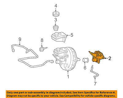 Mercedes Benz R350 2007-2012 Brake Master Cylinder Genuine 1644300401