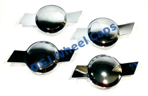 Chevy Type Bowtie Chrome Smooth Knock-Off Spinners for Lowrider Wire Wheels