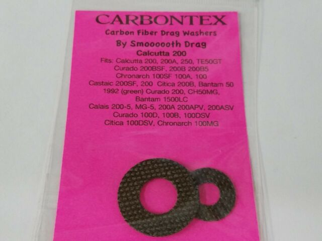Carbontex Drag Washers SHIMANO CURADO 200DHSV 200i 200iHG 70HG Chronarch 151Ci4