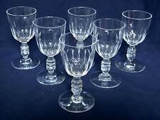 BACCARAT 6 petits verres à vin CRISTAL taillé époque 1840 - 50 (18 disponibles)