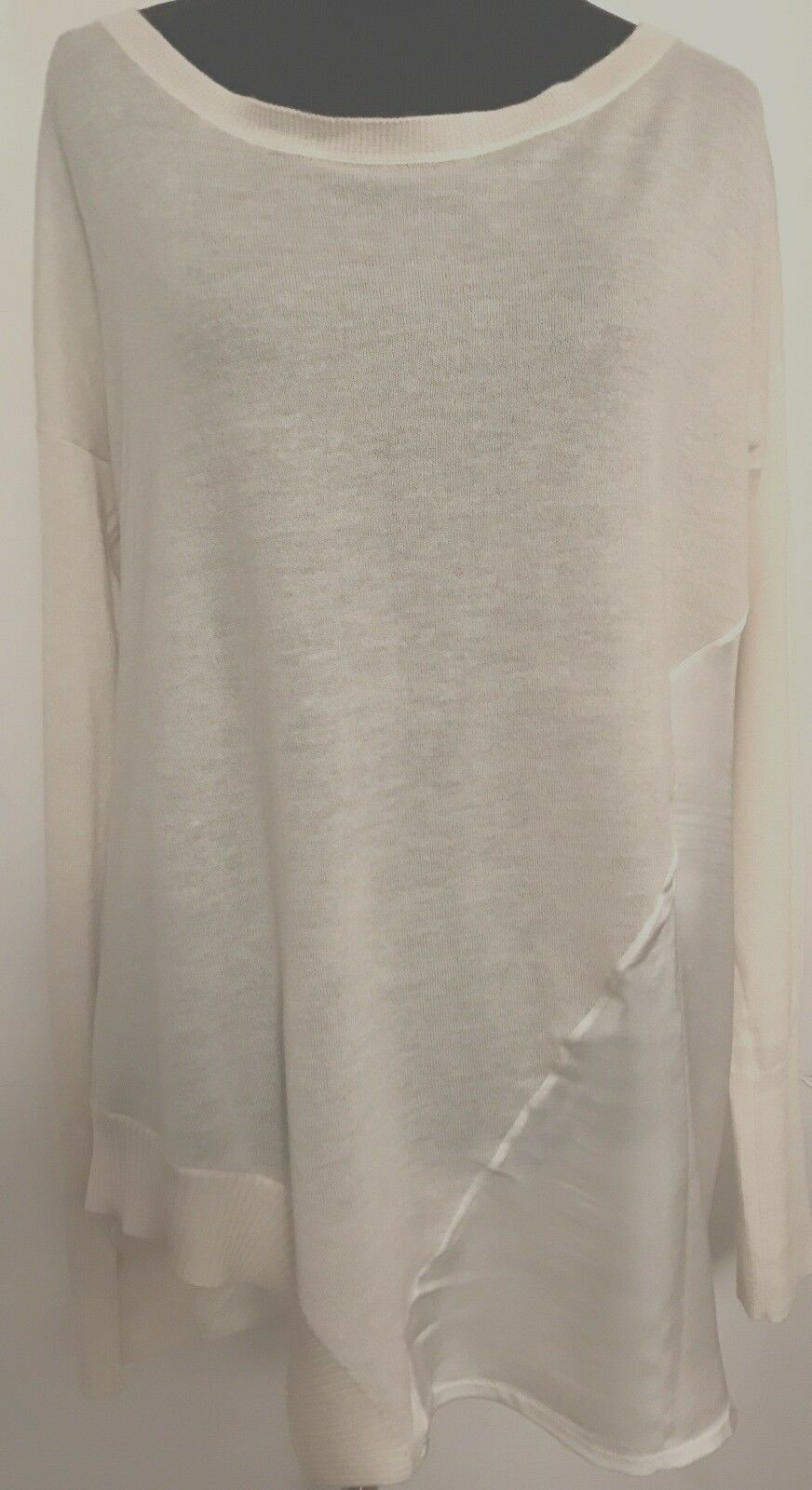 Christopher Fischer Women's Ivory Cashmere and Silk Sweater Size M NWOT