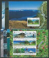 NEW ZEALAND 1999 SCENIC WALKS SET OF 7 PRESTIGE BOOKLET PANES UNMOUNTED MINT,MNH