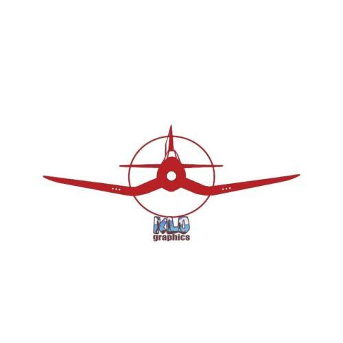 F4U CORSAIR FRONT Sticker Decal AVG US Navy Air Corps Aviation Pilot WARBIRD