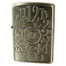 New Zippo Lighter Cat Clock Brass Gold 1201S647