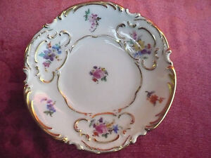 Beautiful, Old Decorative Bowl __ Floral Decoration__Hutschenreuther__