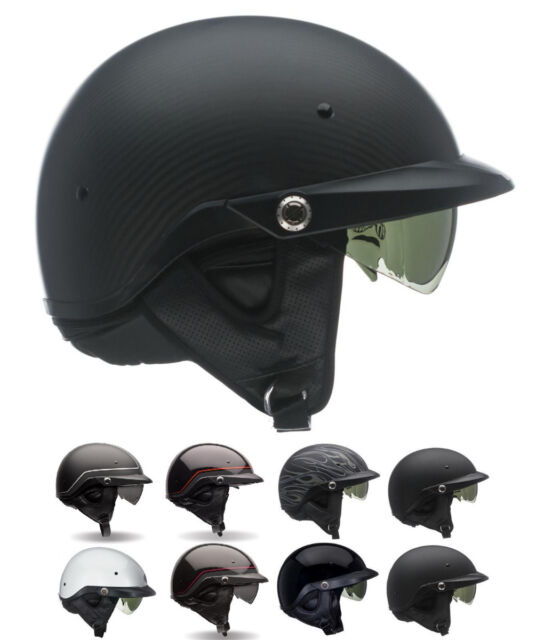 *Ships Within 24 Hrs* Bell Pit Boss (Black, Catacombs...) Motorcycle Half Helmet