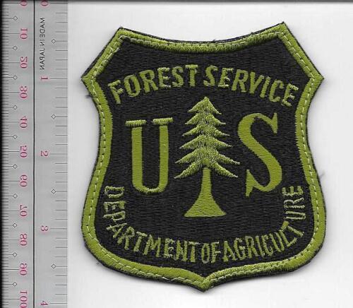 Hot Shot Wildland Fire Crew USFS United States Forest Service OD on Black VELkRO