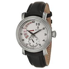 Swiss Made Bulova Accutron 63C102 Amerigo Retrograde Calendar Mens Watch