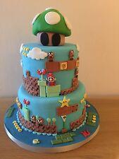 SUPER Mario FONDENTE CAKE TOPPER-rendere la vostra torta un aspetto fantastico!!!
