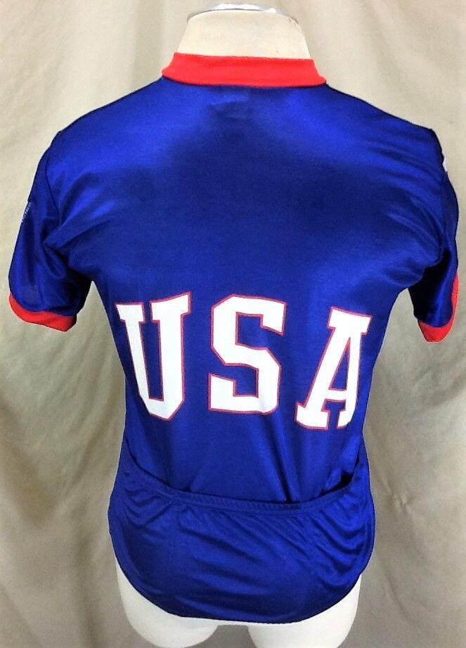 Vintage Canari Canari Vintage Team USA Olympics (Medium) 1/2 Zip Up Cycling Race Wear Jersey 7b2c96