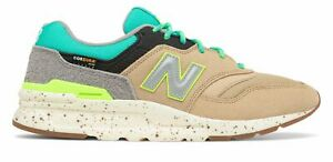 New Balance Men's 997H Shoes Tan with Blue