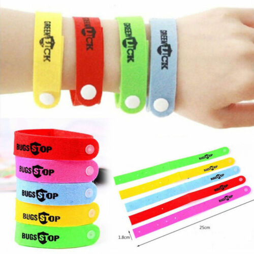 ANKLE CDN SELLER NEW 5 Pc Anti Mosquito Repellent Bracelet Bands WRIST