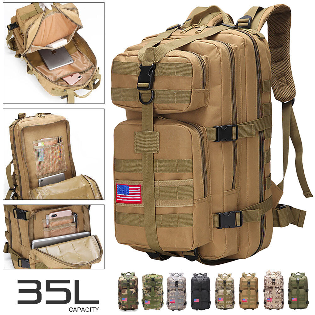 35L Outdoor Military Molle Tactical Backpack Rucksack Camping Bag Trav... - s l1600
