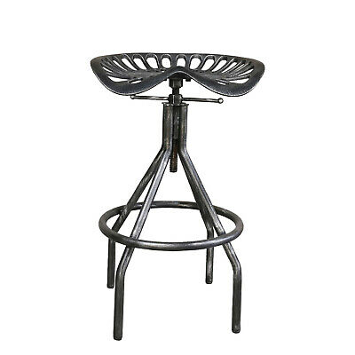 Astounding Industrial Swivel Bar Stool Cast Iron Tractor Seat Counter Height Stool Pub Blac Ebay Gmtry Best Dining Table And Chair Ideas Images Gmtryco