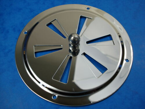 Stainless Steel 316 Centre Lockable Round Vent 125mm Mirror Finish FREE POST
