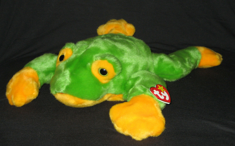 9fce976ca48 Ty Beanie Buddy Frog Named Smoochy 3rd Generation Plush Toy MINT ...