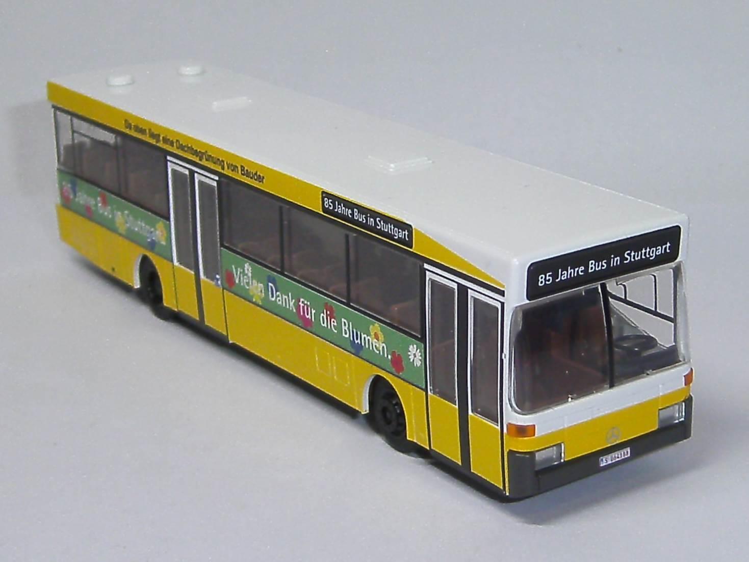 MB O405 SSB bluemenbus 85 Years Bus Stuttgart Rietze 71819 1 87 NEW