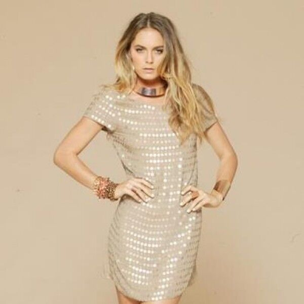 PASDUCHAS - Glistening Dress Nude size 8 CLEARANCE BNWT