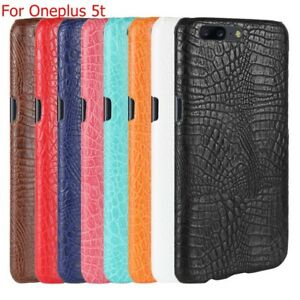new product 4c79a 8fc16 Details about New Luxury slim Crocodile Hybrid PC+leather Back Cover Skin  Case For Oneplus 5t