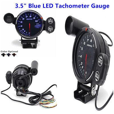 "High Quality 12V Tachometer Gauge Kit LED 3.5/"" Auto Meter Stepping Motor RPM"