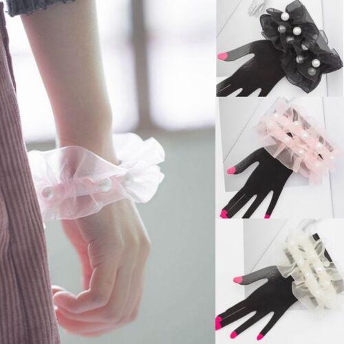 Frauen Sommer Spitze Socken-Perlen Armband Oberschenkel Bänder Bein neu