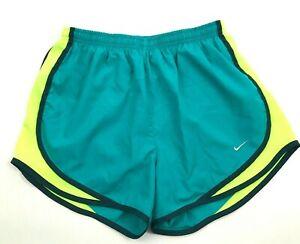 Nike-Femmes-Sarcelle-Course-Short-Taille-Haute-S-Double-Citron-Vert-Cotes-Aere
