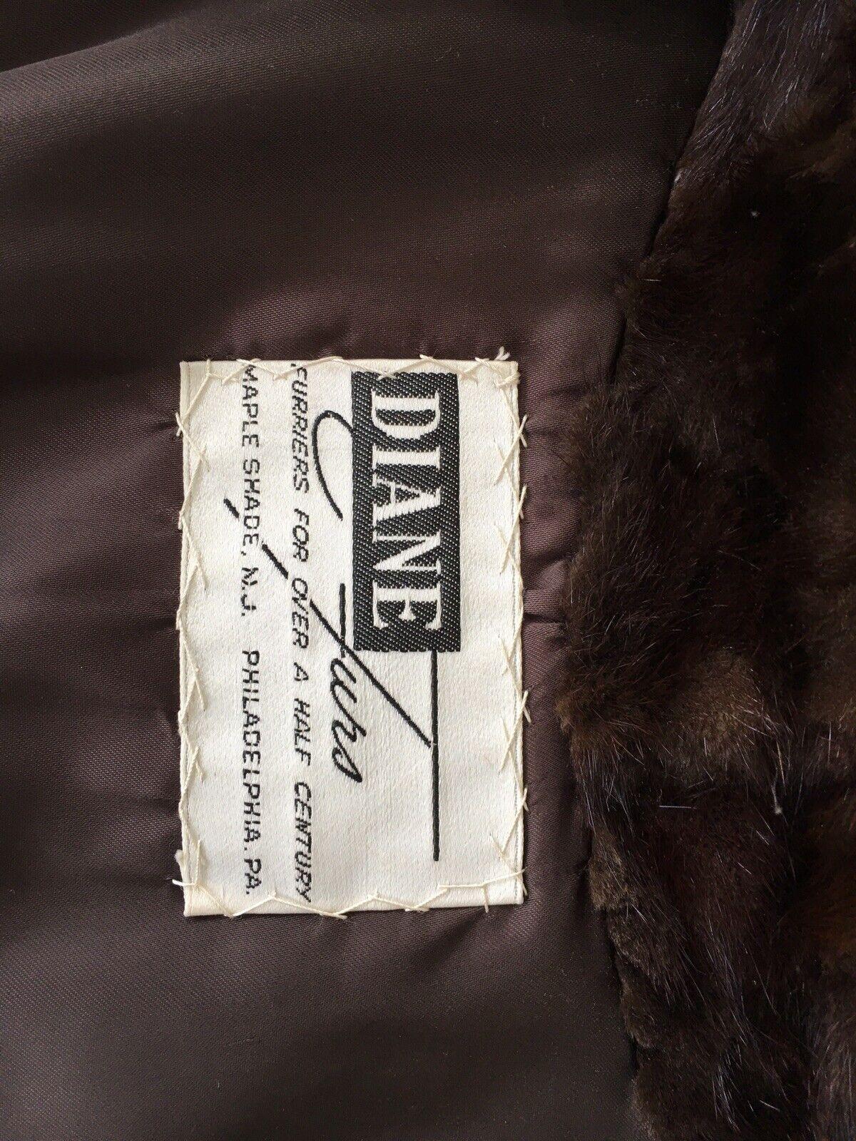 """Dark Brown Mink Fur Coat Full Lenght  """"Diane Furs… - image 10"""