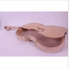 1 pcs 4/4 violin unfinished Flame maple back Russian spruce top Wholesale