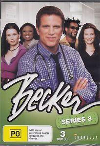 BECKER-SERIES-3-Ted-Danson-Hattie-Winston-3-DVD-039-s-24-EPISODES