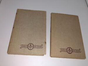 Vtg-Lot-of-2-Books-1933-Grosset-amp-Dunlap-Famous-Dog-Stories-Lassie-amp-Silver-E11